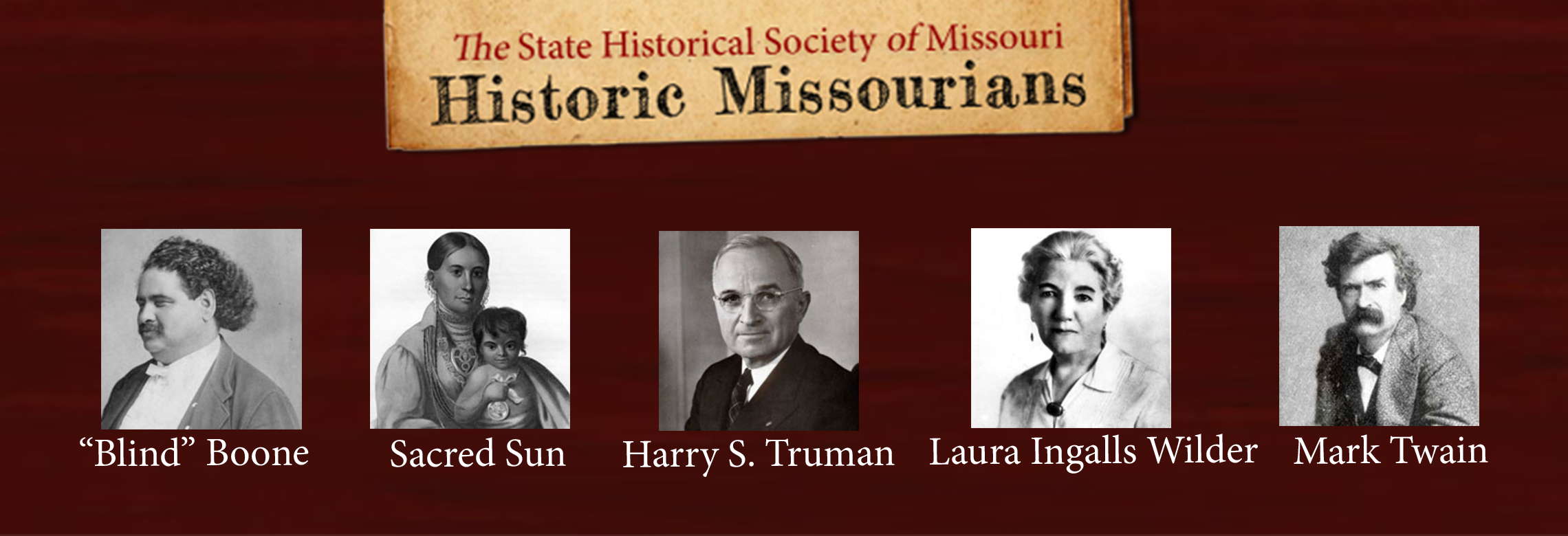Historic Missourians banner