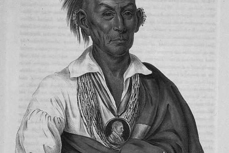 Black Hawk, a Sauk leader, fought at the Battle of the Sinkhole