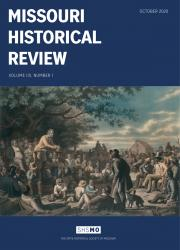 Missouri Historical Review October 2020 cover